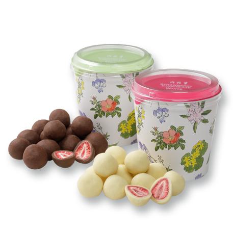 可愛くておいしい、いちごスイーツのお取り寄せ 六花亭 ストロベリーチョコ 2種セット